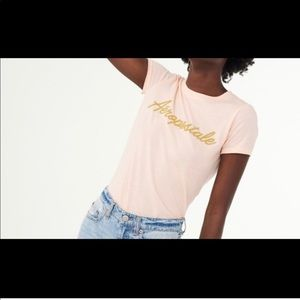 NWT Aeropostale Gold Beaded Graphic Tee